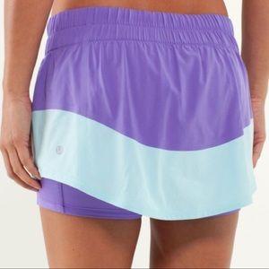 Lululemon Run: Breeze By Skirt in purple and mint